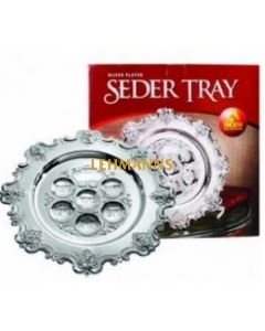 Ner Mitzvah Seder Plate - Silver Plated 38cm