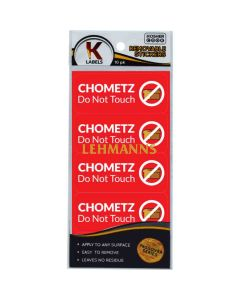 """The Kosher Cook Stickers - """"Chometz Do Not Touch"""""""
