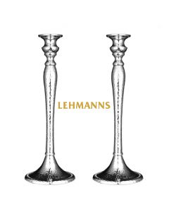 Candlesticks - Hammered Nickel -Silver Colour 31.1cm
