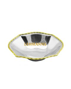 Octagonal Dish-Stainless Steel With Gold Border
