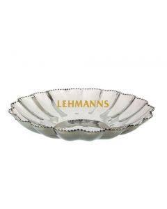 Round Flower Shaped Stainless Steel  Beaded Dish 25cm