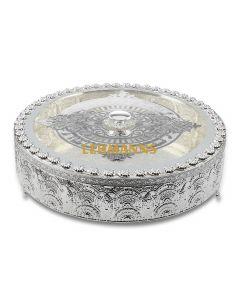 Matzah Holder-Filigree Design-Silver Plated On Cover-30.5x9 cms