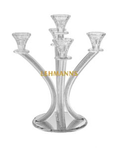 Candelabra-5 Branches-Crystal With Curved-Crystal Stones