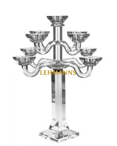 Candelabra -5 Branches-Clear Crystal -33cm