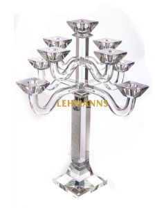 Candelabra -9 Branches-Clear Crystal and Sterling Silver 49.5cm