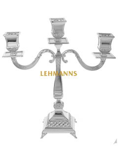 Candelabra-3 Branches-Silver Plated -Floral Design 35.6cm
