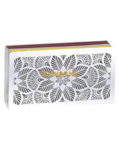 Dorit Judaica: Matches Holder - Large Matches - Floral Design - Stainless Steel