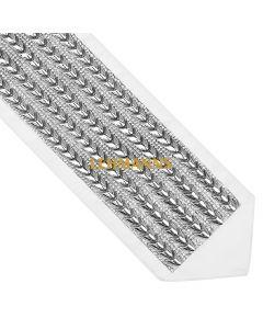 Atarah-Silver With Crystal Stones 7.6cm