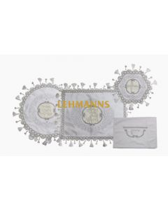 Pesach 4 Pc Set-Satin-Ornament Design-Pillow, Pesach & Afikoman Covers With T