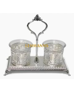 Salt Holder -Silver Plated-Royal Palace Design-Double (Price Excludes VAT) - Retail Onl