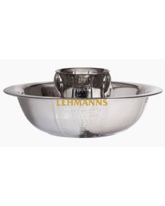 Washing Cup and Bowl Set-Hammered and Polished Stainless Steel