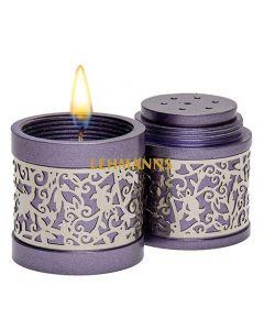 Yair Emanuel: Havdallah Set - Travel -Purple/Silver Cut Out