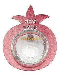 Yair Emanuel:Salt Holder-Pomegranate Shape-Maroon Coloured  Anodized Aluminum