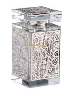 Besamim Holder Crystal - Floral Silver Decoration