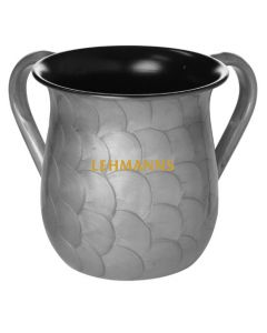 Washing Cup- Stainless Steel -Enamel Finish-Silver