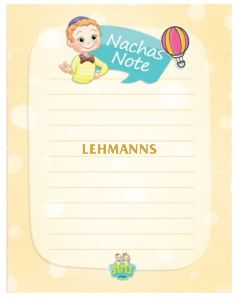 Nachas Note Pad Boy - 25 Sheets 10.8x14cm