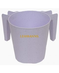 Washing Cup- White Sparkles -Plastic
