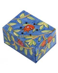 Yair Emanuel:Besamim Spice Box - Hand Painted - Pomegranate Design