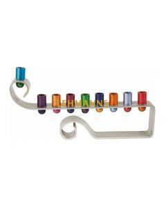 Yair Emanuel: Menorah - Hanukkah - Curl - Multicolor