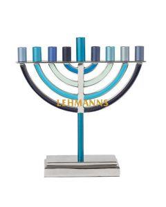 Yair Emanuel:Menorah-Traditional-Anodiized Aluminium- Blue-Large