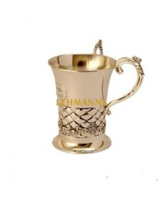 Washing Cup - Silver Plated-Embossed