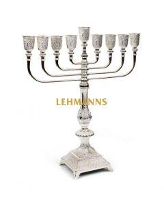 Menorah -Silver Plated-Contemporay Filigree Design 38.5cm