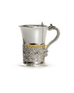 Washing Cup - Silver Plated-Pomegranate Design