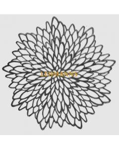 Charger/Placemat-Silver Floral  Design-12pcs