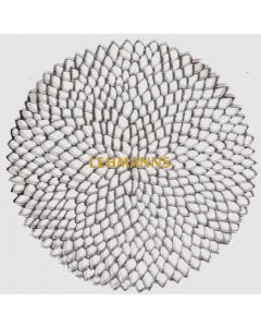 Charger/Placemat-Silver Mandala Design-12pcs