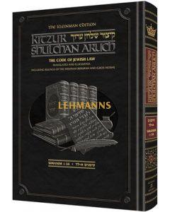 Artscroll: Kleinman Edition Kitzur Shulchan Aruch Code of Jewish Law Vol 1 Chapters 1-34