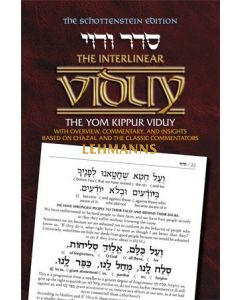 Artscroll: Intrelinear Viduy / Confession by Rabbi Menachem Davis
