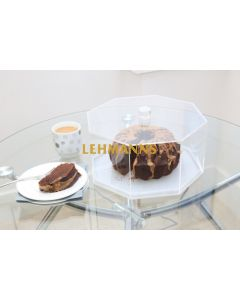 Feldart: Cake Holder - Hexagonal Dome (Grey Marble)