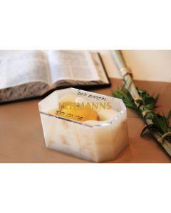 Feldart: Etrog Box -Acrylic-Gold Marble