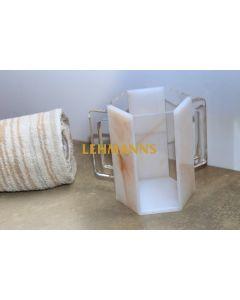 Feldart: Washing Cup -Hexagonal-Acrylic-Gold Marble