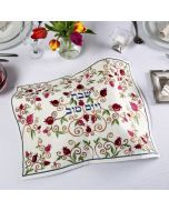 Yair Emanuel: Challah Cover- Embroidered -Multicoloured  Pomegranate Design