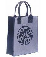 Dorit Judaica : Ladies and Girls Felt Tote Bag-Mauve-Pomegranate Pattern