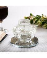 Mayim Achronim Crystal With Silver Flower Design