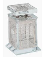 Besamim Holder Crystal - With Silver Plate