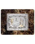 Camilletti:Challah Board -Mahogany and Silver-Rectangular-Vengè (