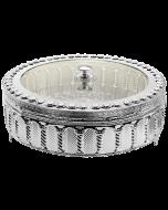Matzah Holder- Silver Plated Royal Palace Design- Acrylic Cover-33x11.4cms