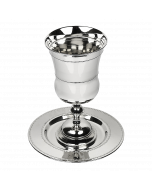 Kos Shel Eliyahu and Tray-Nickel- Beaded Design