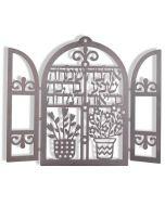 Dorit Judaica-Window of Bracha-Wall Hanging-Laser Cut-Stainless Steel
