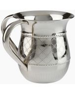 Washing Cup-Polished Stainless Steel-Diamond Design